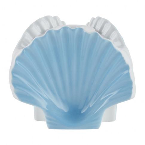 Richard Ginori 1735 - Luke Edward Hall 3 Shells Vase/ Candle Holder - Sea Blue