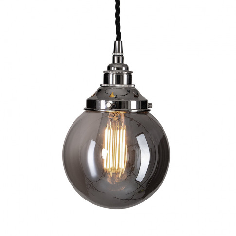 Old School Electric - Globe Smoked Brown Glass Ceili...