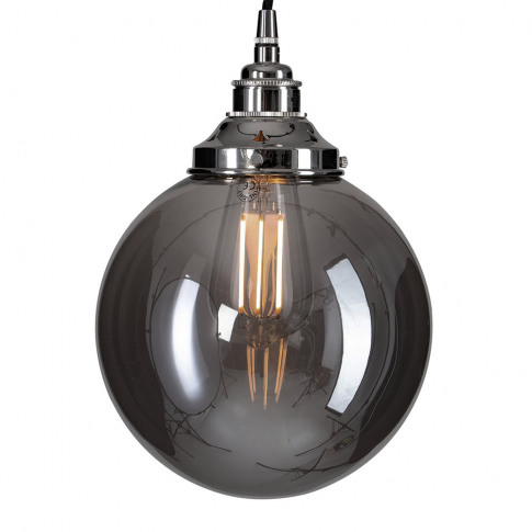 Old School Electric - Globe Smoked Brown Glass Ceiling Light - Large