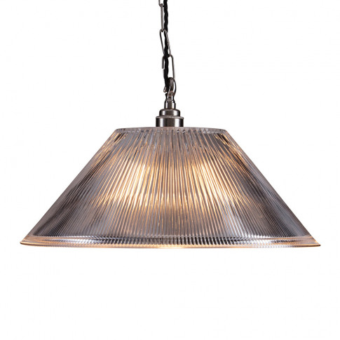 Old School Electric - Prismatic Conical Ceiling Light - Large