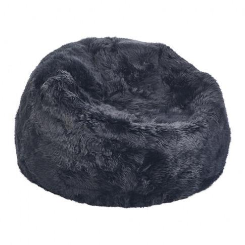 A By Amara - New Zealand Sheepskin Bean Bag - Navy