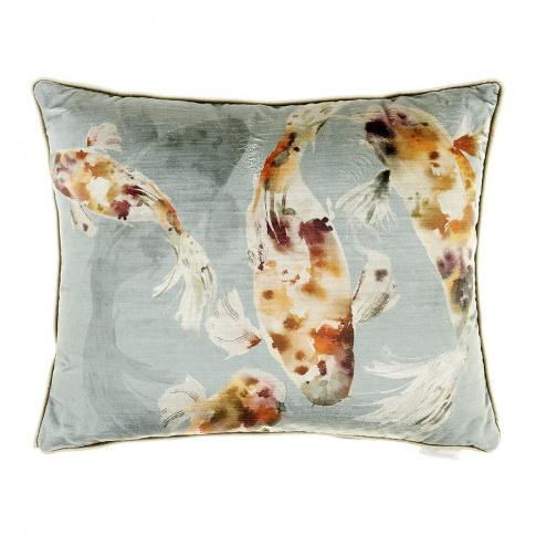 Voyage Maison - Koi Carp Velvet Cushion - 45x55cm - ...