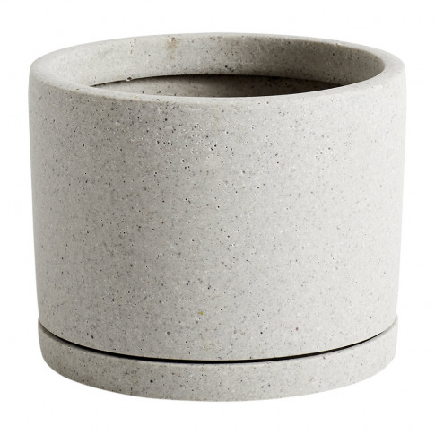 Hay - Plant Pot With Saucer - Grey - L