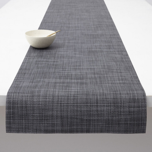 Chilewich - Basketweave Woven Table Runner - Cool Grey
