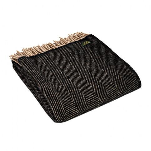 Tweedmill - Herringbone Wool Throw - Vintage