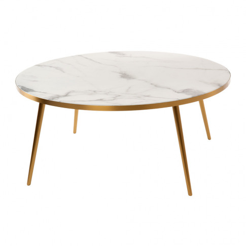 Pols Potten - Marble Look Coffee Table - White