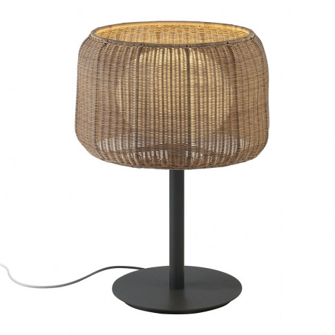Bover - Fora Rattan Table Lamp - Brown