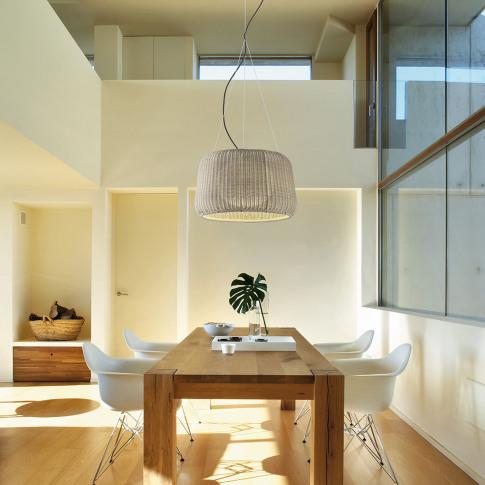 Bover - Fora Rattan Pendant Lamp - Beige