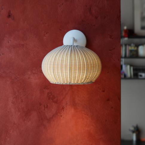 Bover - Garota Rattan Wall Light - Ivory