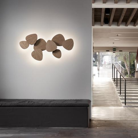 Bover - Tria Wall Light - Set Of 6 - Natural Oak