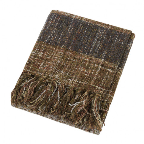 A By Amara - Woven Stripe Fringe Throw - 130x170cm