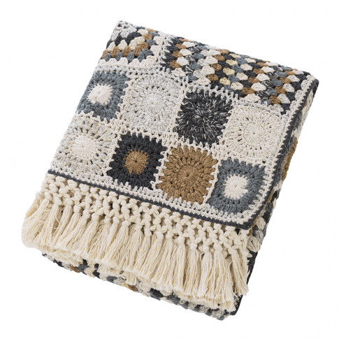 A By Amara - Crochet Fringe Throw - 130x170cm
