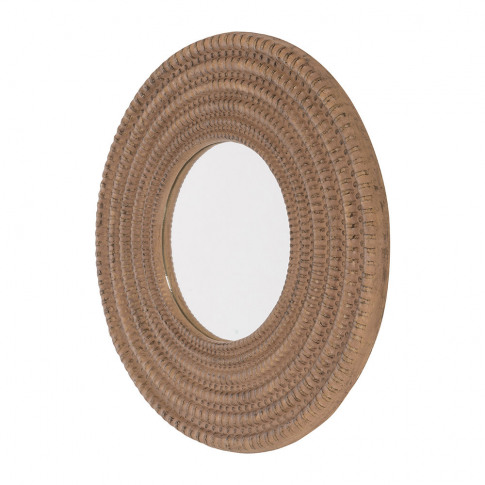 A By Amara - Rope Look Round Border Wall Mirror