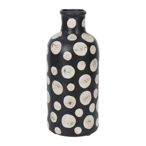 A By Amara - Black & White Spot Tall Vase