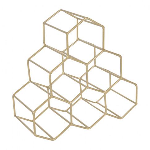 A By Amara - Hexagon Wire Wine Rack - Gold