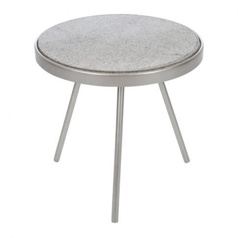A By Amara - Cowhide Side Table - Grey