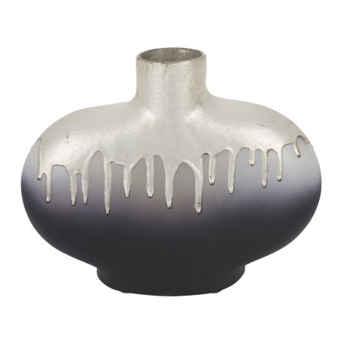 A By Amara - Silver Drip Bottle Vase