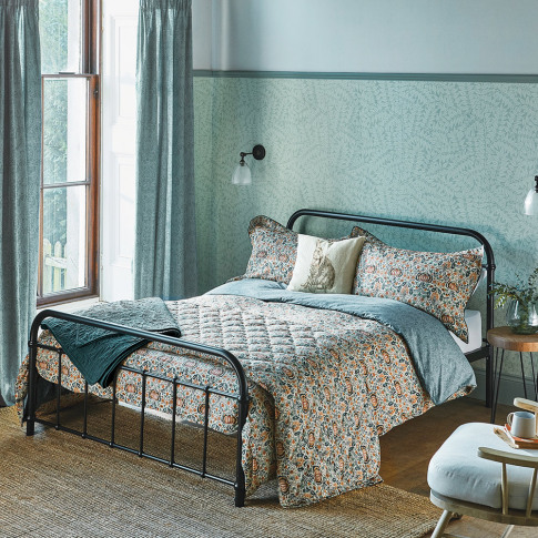Morris & Co - Little Chintz Duvet Cover - Teal - Sup...