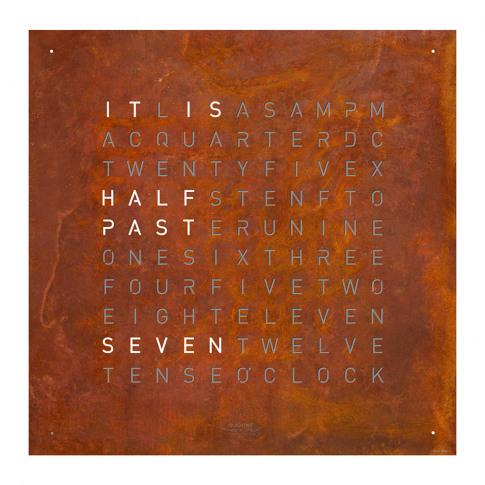 Qlocktwo - Classic Clock - Creator's Edition Rust