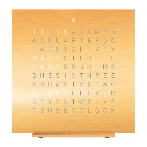 Qlocktwo - Touch Alarm Clock - Golden Legend