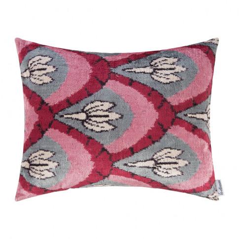 Les Ottomans - Velvet Cushion - 40x50cm - Pink/Grey ...