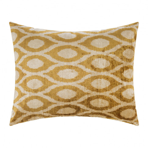 Les Ottomans - Velvet Cushion - 40x50cm - Yellow Pat...
