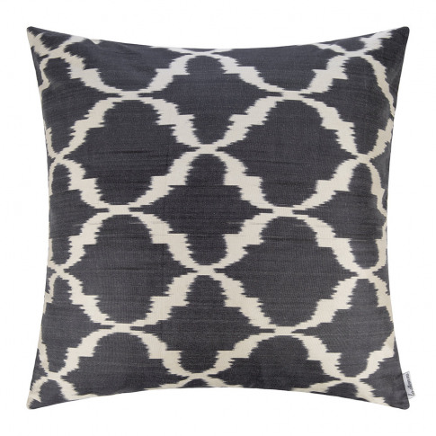 Les Ottomans - Silk Ikat Cushion - 60x60cm - Blue Pa...