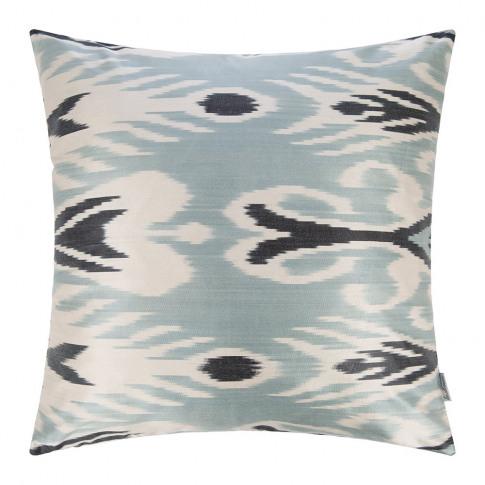 Les Ottomans - Silk Ikat Cushion - 60x60cm - Blue De...