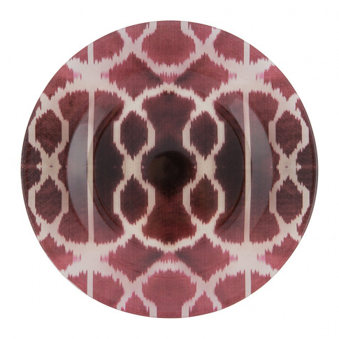 Les Ottomans - Ikat Glass Plate - Red