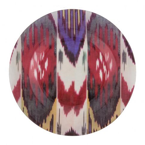 Les Ottomans - Ikat Glass Plate - Multicolour