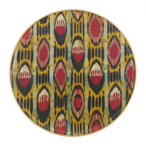Les Ottomans - Fibreglass Round Tray - Big - Red/Yellow