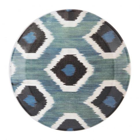 Les Ottomans - Ceramic Ikat Side Plate - Blue/Black