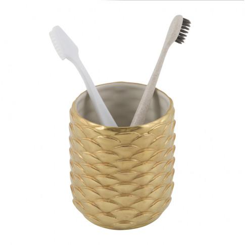 Villari - Peacock Toothbrush Holder - Gold