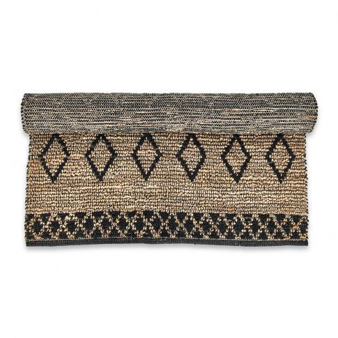 Nkuku - Ambara Jute Rug - Black/Natural - 120x180cm