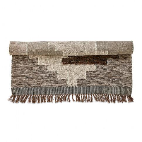 Nkuku - Harti Block Rug - Natural - 120x180cm