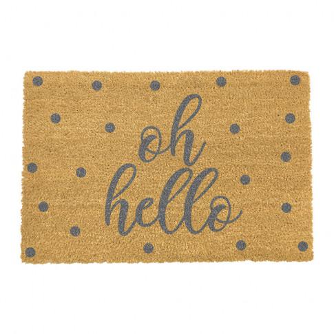 Artsy Doormats - Oh Hello Door Mat - Grey