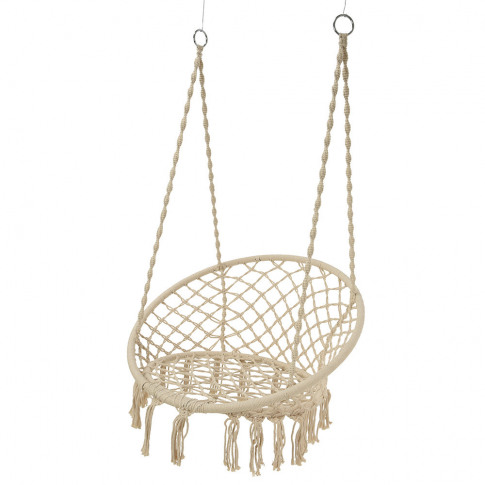 A By Amara - Outdoor Hammock Chair With Fringing - C...