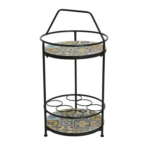 A By Amara - Outdoor Mosaic Tile Wine Rack - Black