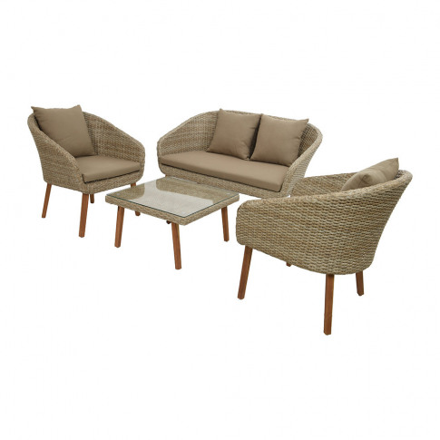 A By Amara - Outdoor Woven Sofa Set - Natural