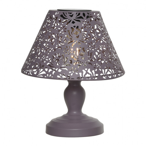 A By Amara - Outdoor Solar Led Metal Table Lamp - Pink