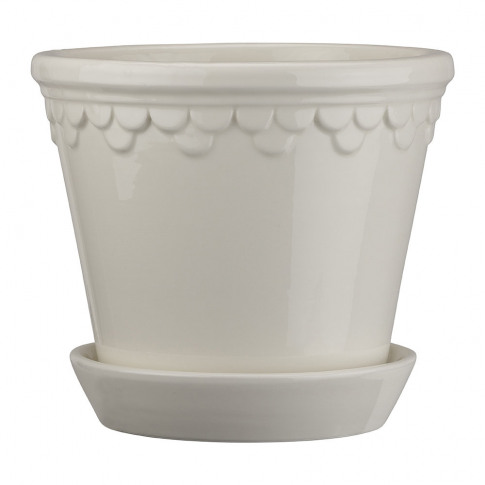 Bergs Potter - Copenhagen Glazed Plant Pot And Sauce...