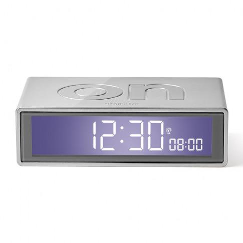 Lexon - Flip+ Alarm Clock - Aluminium