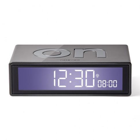 Lexon - Flip+ Alarm Clock - Grey