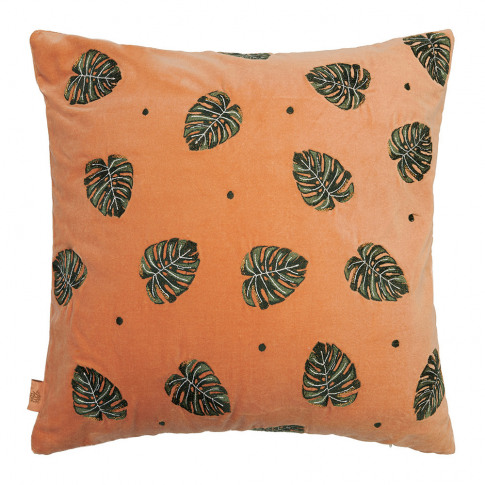 Elizabeth Scarlett - Jungle Leaf Cushion - 45x45cm -...