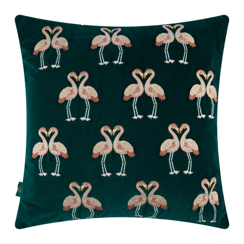 Elizabeth Scarlett - Flamingo Velvet Cushion