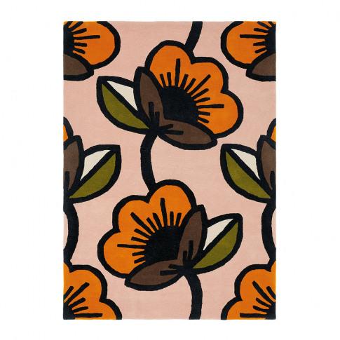 Orla Kiely - Passion Flower Rug - Pink - 120x180cm