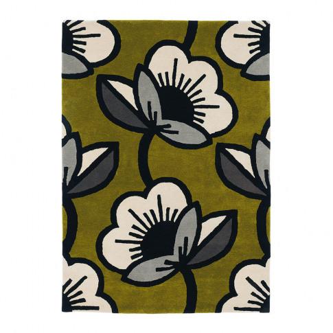 Orla Kiely - Passion Flower Rug - Olive - 120x180cm