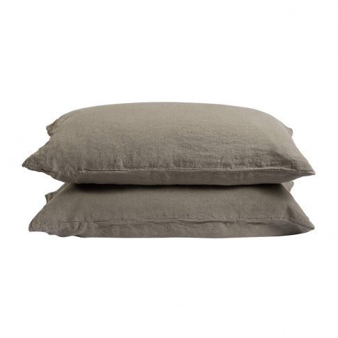 Soho Home - Luna Linen Pillowcase - Set Of 2 - Charcoal