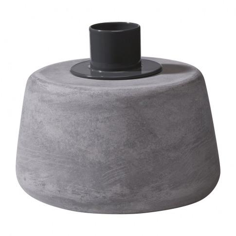 Moxon - Cone Candle Holder - Short - Grey