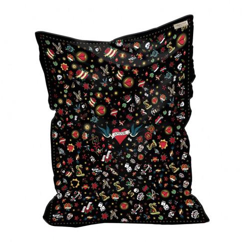 Podevache - Tattoo Love Bean Bag - Black